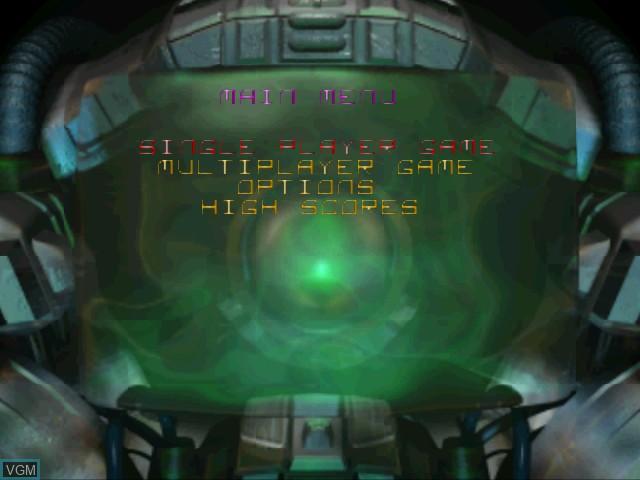 Image du menu du jeu Asteroids Hyper 64 sur Nintendo 64