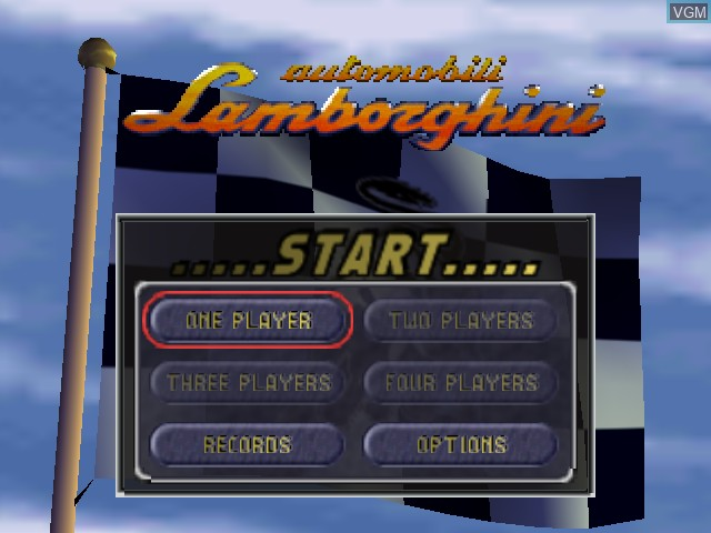 Image du menu du jeu Automobili Lamborghini sur Nintendo 64
