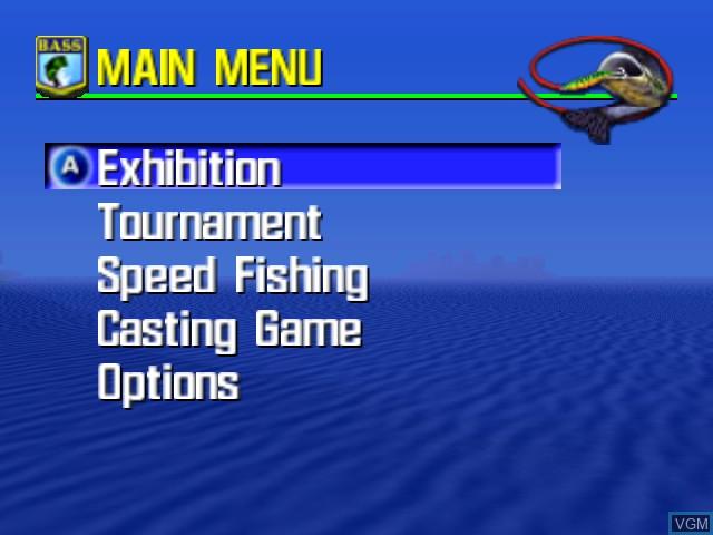 Image du menu du jeu Bassmasters 2000 sur Nintendo 64