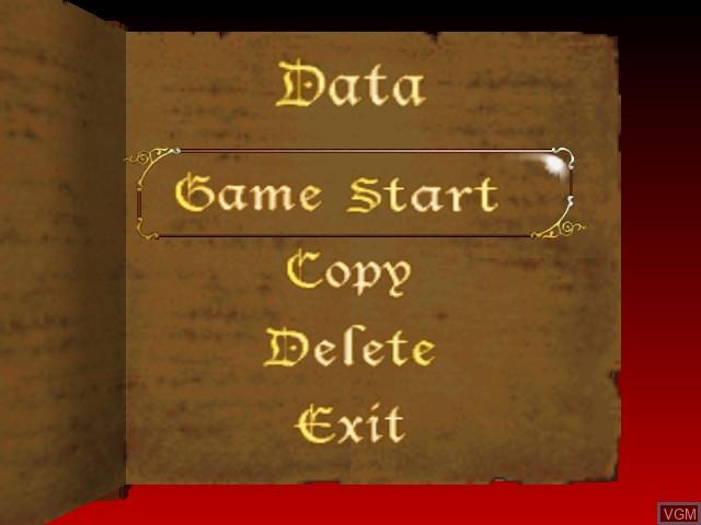 Image du menu du jeu Castlevania sur Nintendo 64