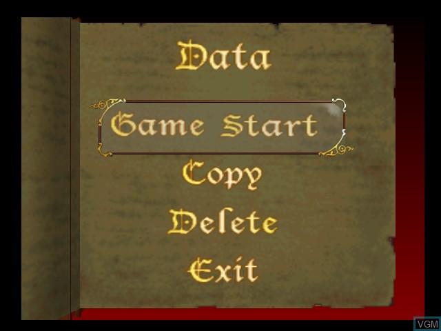Image du menu du jeu Castlevania - Legacy of Darkness sur Nintendo 64