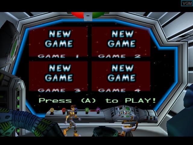 Image du menu du jeu Lode Runner 3-D sur Nintendo 64