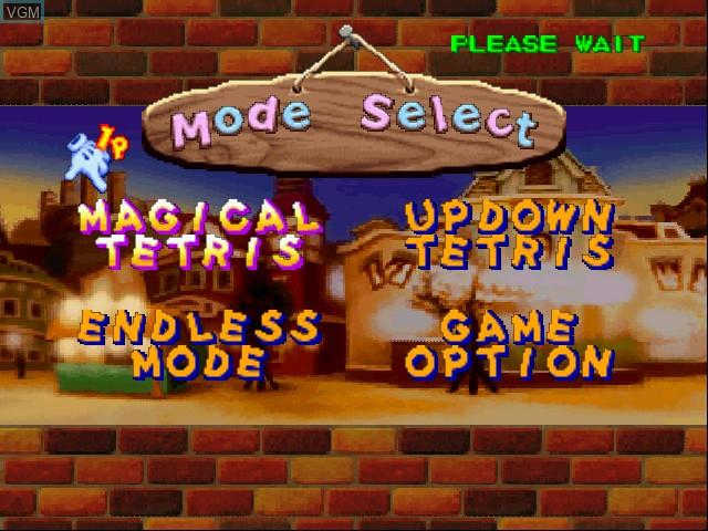 Image du menu du jeu Magical Tetris Challenge sur Nintendo 64
