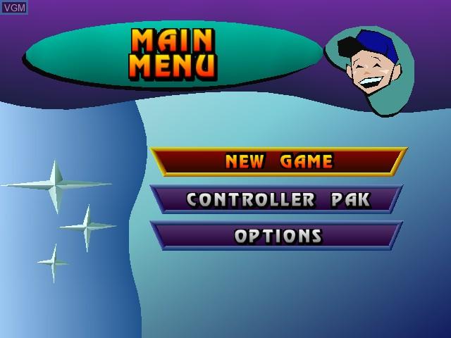 Image du menu du jeu Paperboy sur Nintendo 64