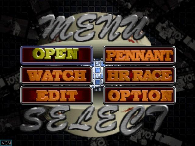 Image du menu du jeu Power League 64 sur Nintendo 64