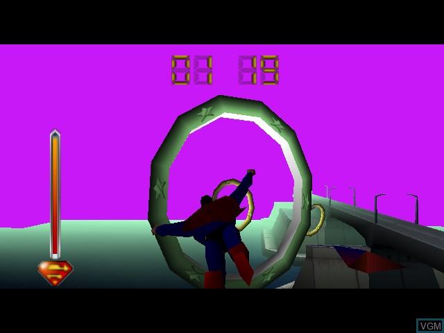 Image in-game du jeu Superman sur Nintendo 64