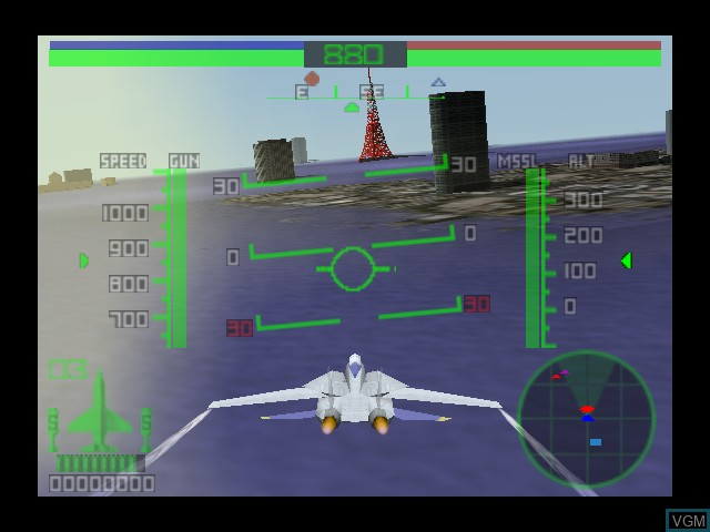 Image in-game du jeu AeroFighters Assault sur Nintendo 64
