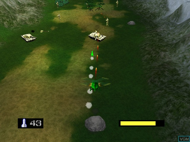 Image in-game du jeu Army Men - Air Combat sur Nintendo 64