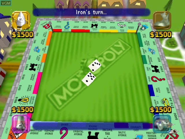 Image in-game du jeu Monopoly sur Nintendo 64