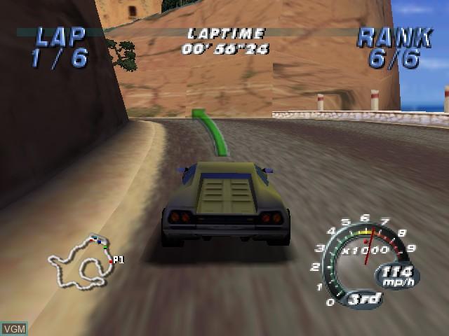 Image in-game du jeu Automobili Lamborghini sur Nintendo 64