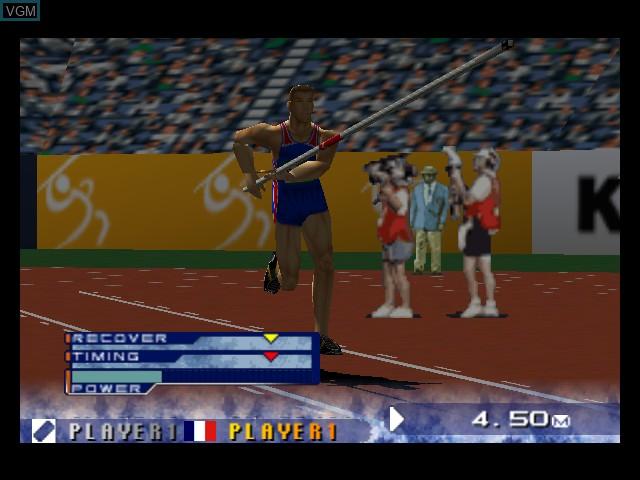 Image in-game du jeu International Track & Field 2000 sur Nintendo 64