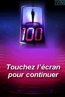 Image de l'ecran titre du jeu 1 contre 100 sur Nintendo DS
