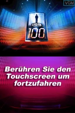 Image de l'ecran titre du jeu 1 gegen 100 sur Nintendo DS