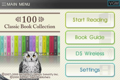 Image de l'ecran titre du jeu 100 Classic Book Collection sur Nintendo DS