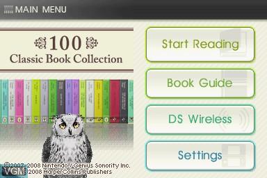 Image de l'ecran titre du jeu 100 Classic Book Collection sur Nintendo DS