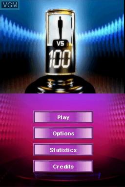 Image de l'ecran titre du jeu 1 vs 100 sur Nintendo DS