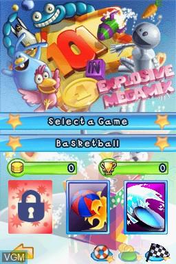 Image de l'ecran titre du jeu 101 in 1 Explosive Megamix sur Nintendo DS