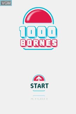 Image de l'ecran titre du jeu 1000 Bornes - Coups-Fourres et Courses Folles! sur Nintendo DS