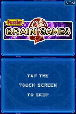 Image de l'ecran titre du jeu Puzzler Brain Games sur Nintendo DS