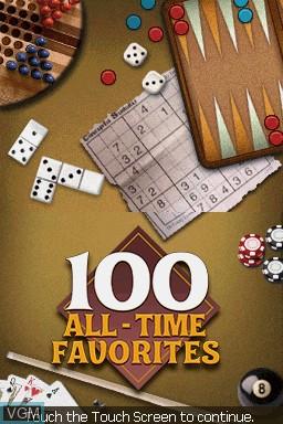 Image de l'ecran titre du jeu 100 All-Time Favorites sur Nintendo DS