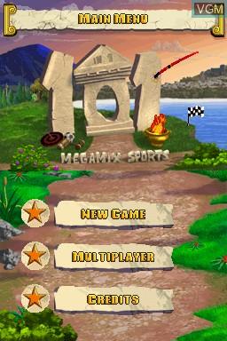 Image de l'ecran titre du jeu 101 in 1 Sports Megamix sur Nintendo DS