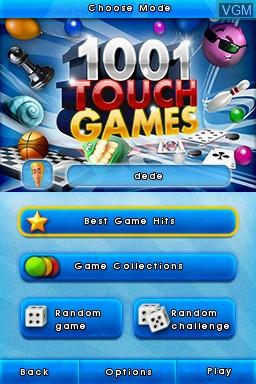 Image de l'ecran titre du jeu 1001 Touch Games sur Nintendo DS