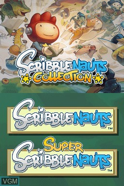 Image de l'ecran titre du jeu Scribblenauts Collection sur Nintendo DS