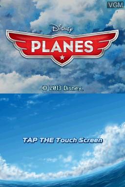 Image de l'ecran titre du jeu Disney Planes sur Nintendo DS