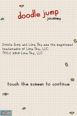 Image de l'ecran titre du jeu Doodle Jump Journey sur Nintendo DS