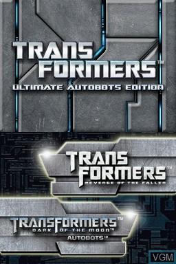 Image de l'ecran titre du jeu Transformers - Ultimate Autobots Edition sur Nintendo DS