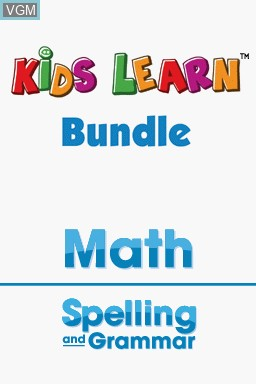 Image de l'ecran titre du jeu Kids Learn - Math and Spelling Bundle sur Nintendo DS