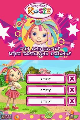 Image de l'ecran titre du jeu Everything's Rosie sur Nintendo DS