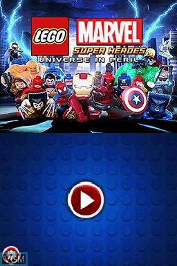 Image de l'ecran titre du jeu LEGO Marvel Super Heroes - Universe in Peril sur Nintendo DS