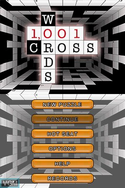Image de l'ecran titre du jeu 1001 Crosswords sur Nintendo DS