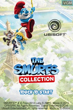 Image de l'ecran titre du jeu Smurfs Collection, The sur Nintendo DS