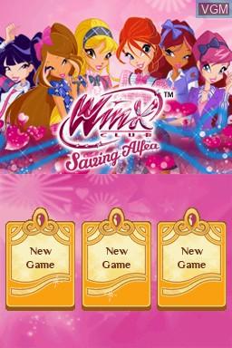 Image de l'ecran titre du jeu Winx Club - Saving Alfea sur Nintendo DS