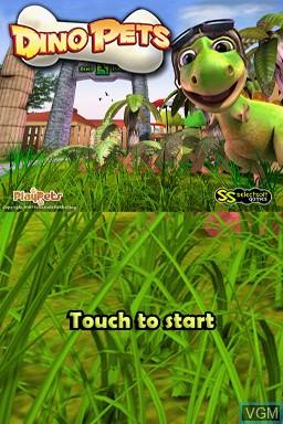 Image de l'ecran titre du jeu Dino Pets - The Virtual Pet Game sur Nintendo DS