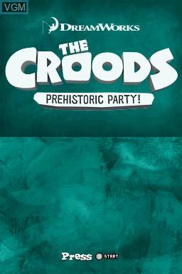 Image de l'ecran titre du jeu Croods, The - Prehistoric Party! sur Nintendo DS