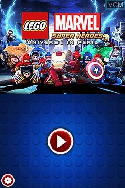 Image de l'ecran titre du jeu LEGO Marvel Super Heroes - L'Univers en Péril sur Nintendo DS