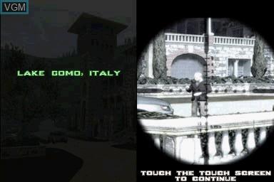 Image du menu du jeu 007 - Quantum of Solace sur Nintendo DS
