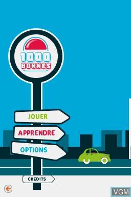 Image du menu du jeu 1000 Bornes - Coups-Fourres et Courses Folles! sur Nintendo DS