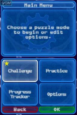 Image du menu du jeu Puzzler Brain Games sur Nintendo DS