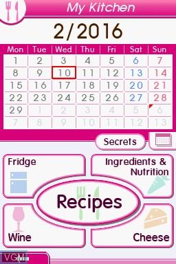 Image du menu du jeu 1000 Cooking Recipes from Elle a Table sur Nintendo DS