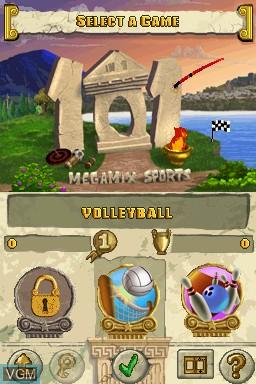 Image du menu du jeu 101 in 1 Sports Megamix sur Nintendo DS