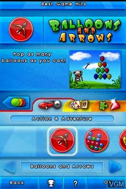 Image du menu du jeu 1001 Touch Games sur Nintendo DS