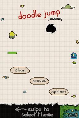 Image du menu du jeu Doodle Jump Journey sur Nintendo DS