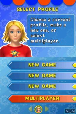 Image du menu du jeu Kids Learn - Math and Spelling Bundle sur Nintendo DS