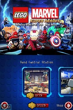 Image du menu du jeu LEGO Marvel Super Heroes - Universe in Peril sur Nintendo DS