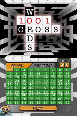 Image du menu du jeu 1001 Crosswords sur Nintendo DS