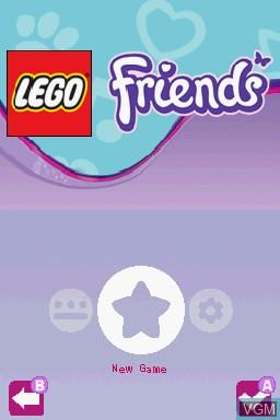 Image du menu du jeu LEGO Friends sur Nintendo DS